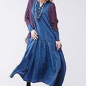Одежда ручной работы. Ярмарка Мастеров - ручная работа Платье в стиле бохо льняное 4-13. Handmade.