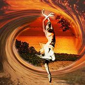 Иллюстрации ручной работы. Ярмарка Мастеров - ручная работа фотоколлаж: танец и море. Handmade.