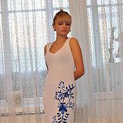 """Одежда ручной работы. Ярмарка Мастеров - ручная работа Платье"""" Гжель"""". Handmade."""