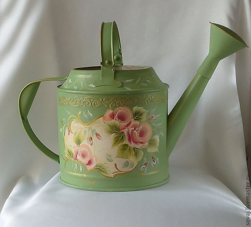 Vintage watering can for watering houseplants 'Roses from the past', Heads, ,  Фото №1