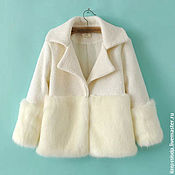 Одежда handmade. Livemaster - original item White coat