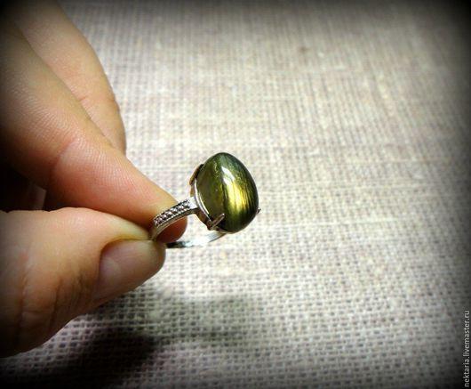 Кольца ручной работы. Ярмарка Мастеров - ручная работа. Купить Серебряное кольцо с лародоритом. Handmade. Серебряный, лабродорит, лабродорит