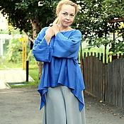 Одежда ручной работы. Ярмарка Мастеров - ручная работа Летняя бохо юбка в светло-сером цвете. Handmade.