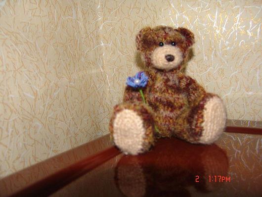 Игрушки животные, ручной работы. Ярмарка Мастеров - ручная работа. Купить Мишка с цветочком. Handmade.