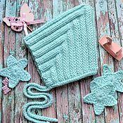 Шапки ручной работы. Ярмарка Мастеров - ручная работа Шапочка эльф для новорожденного, шапочка гномик,мятная шапочка. Handmade.