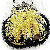 Сумки и аксессуары ручной работы. Ярмарка Мастеров - ручная работа Подарок Cумка family look мимоза весна Италия желтые цветы бохо купить. Handmade.