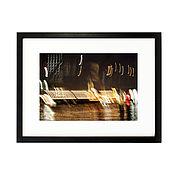 Картины и панно ручной работы. Ярмарка Мастеров - ручная работа Фотокартина в раме для интерьера. Ночной Амстердам 1. Handmade.