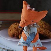 Куклы и игрушки ручной работы. Ярмарка Мастеров - ручная работа Лисичка с рыбкой))). Handmade.