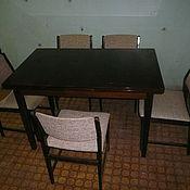 Винтаж ручной работы. Ярмарка Мастеров - ручная работа Реставрация  обеденного стола и стульев.. Handmade.