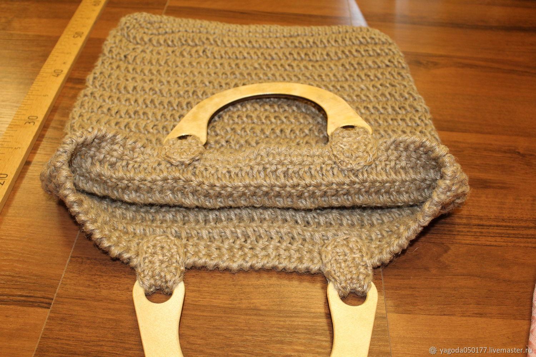 Bags & Accessories handmade. Livemaster - handmade. Buy Jute bag is big. with wooden handle.Bag, jute