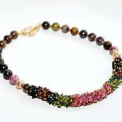 Украшения handmade. Livemaster - original item necklace of tourmaline