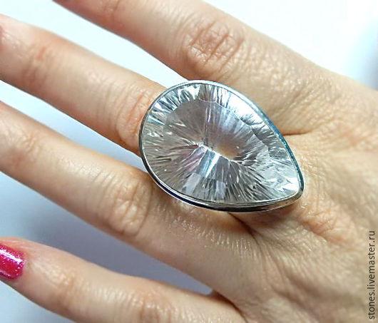 """Кольца ручной работы. Ярмарка Мастеров - ручная работа. Купить Кольцо """"LUCKY"""",горный хрусталь.. Handmade. Натуральные камни, хрусталь"""