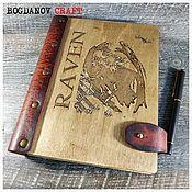 Канцелярские товары handmade. Livemaster - original item RAVEN Diary / RAVEN. Handmade.