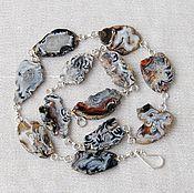 Украшения ручной работы. Ярмарка Мастеров - ручная работа Колье из агата. Handmade.