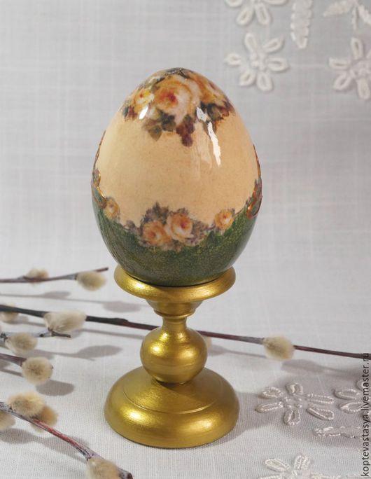 """Подарки на Пасху ручной работы. Ярмарка Мастеров - ручная работа. Купить Пасхальное яйцо """"Золотое"""". Handmade. Тёмно-зелёный, Пасха"""