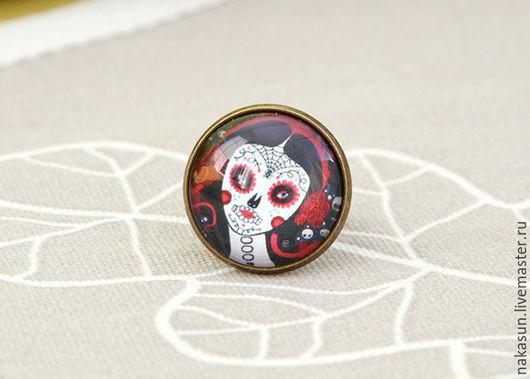 Кольца ручной работы. Ярмарка Мастеров - ручная работа. Купить Кольцо La muerte. Handmade. Комбинированный, красный, la muerte