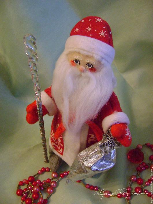 Сказочные персонажи ручной работы. Ярмарка Мастеров - ручная работа. Купить Текстильный кукла Дед Мороз. Handmade. Комбинированный