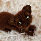 Куклы и игрушки handmade. Livemaster - original item Felted kitty toy cookie monster. Handmade.