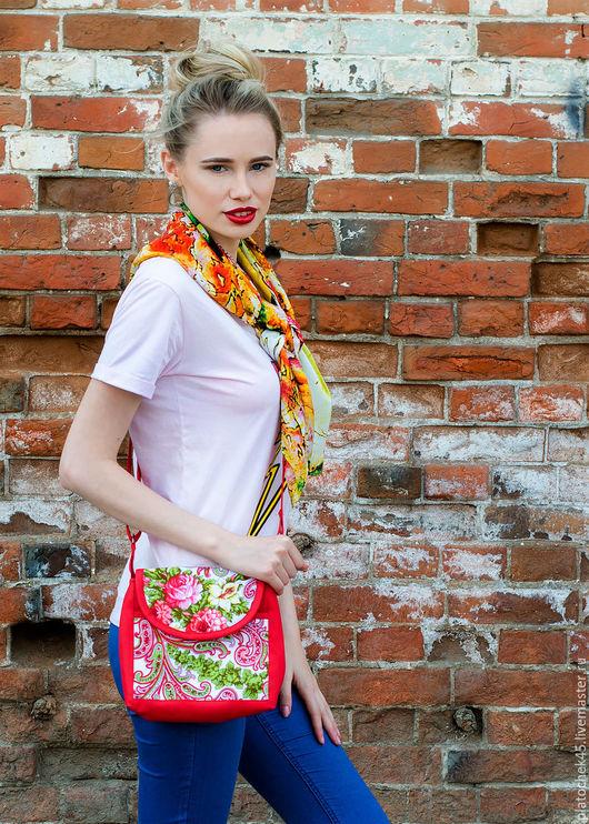 Женские сумки ручной работы. Ярмарка Мастеров - ручная работа. Купить Сумка из платка. Handmade. Комбинированный, сумка прочная
