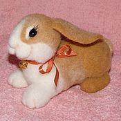 Куклы и игрушки ручной работы. Ярмарка Мастеров - ручная работа Крольчонок Кроха  валяный. Handmade.