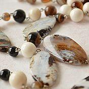 Работы для детей, handmade. Livemaster - original item Beads of agate and mother-of-pearl Praline. Handmade.