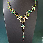 Украшения handmade. Livemaster - original item Necklace Forest Stream. Handmade.
