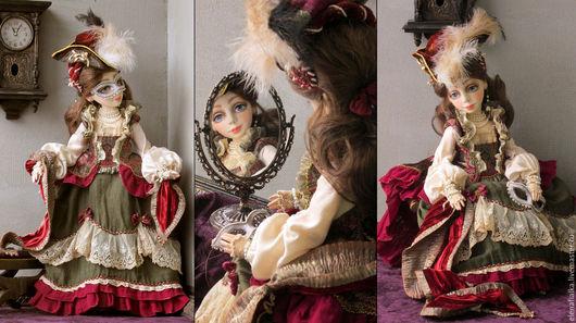 Коллекционные куклы ручной работы. Ярмарка Мастеров - ручная работа. Купить И снова Карнавал!!!))). Handmade. Бордовый, состаренный стиль