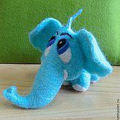"""Куклы и игрушки ручной работы. Ярмарка Мастеров - ручная работа Войлочная игрушка """"Голубой слонёнок"""". Handmade."""