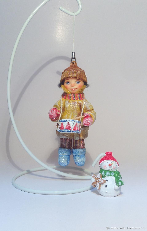 Новый год 2018 рождество елочная игрушка подарок игрушка на елку украшение на елку, ретро стиль винтаж  рождество фотография  Ручная работа Купить Ватная елочная игрушка Handmade оригинальная красивая