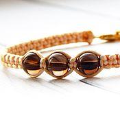 Украшения handmade. Livemaster - original item Bracelet-thread with rauchtopaz. Handmade.