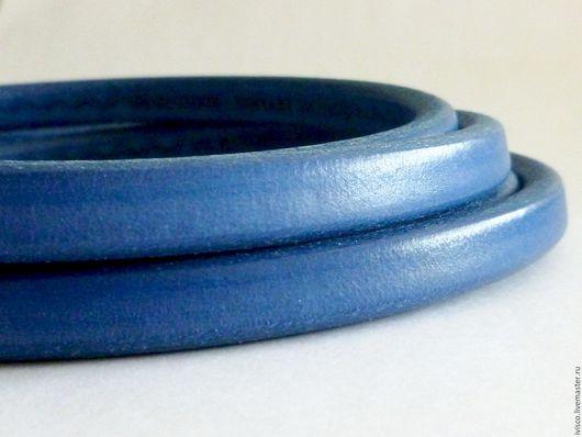 Для украшений ручной работы. Ярмарка Мастеров - ручная работа. Купить Шнур Регализ 10х6мм синий. Handmade. Рыжий