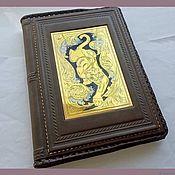 Канцелярские товары handmade. Livemaster - original item Leather-bound diary z1528. Handmade.