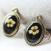 Украшения handmade. Livemaster - original item Small earrings with real fresh flowers of spirea in a retro style.. Handmade.