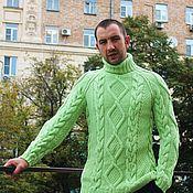 """Одежда ручной работы. Ярмарка Мастеров - ручная работа свитер """"Добрый""""салатовый. Handmade."""