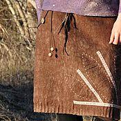 """Одежда ручной работы. Ярмарка Мастеров - ручная работа Валяная юбка  """"Грильяж"""". Handmade."""