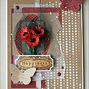 Открытки ручной работы. Ярмарка Мастеров - ручная работа Открытка с красными маками. Handmade.