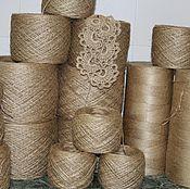 Материалы для творчества handmade. Livemaster - original item Jute thread 0.6 mm 100 grams 160 meters. Handmade.