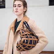 """Классическая сумка ручной работы. Ярмарка Мастеров - ручная работа Сумка кожаная женская """"Тартан"""" шоппер. Handmade."""