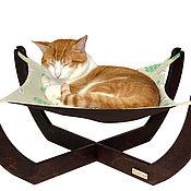 """Для домашних животных, ручной работы. Ярмарка Мастеров - ручная работа Гамак для кошек квадратный """"Котики"""". Handmade."""