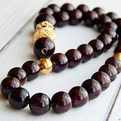 Фен-шуй и эзотерика handmade. Livemaster - original item Garnet rosary in gold. Handmade.