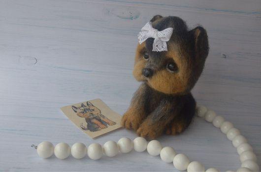 Игрушки животные, ручной работы. Ярмарка Мастеров - ручная работа. Купить Мини Йорк. Handmade. Игрушка, игрушка в подарок