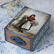 """Для дома и интерьера ручной работы. Ярмарка Мастеров - ручная работа Шкатулка """"Цветочница"""". Handmade."""