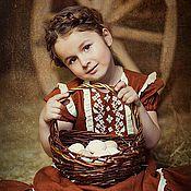 Работы для детей, ручной работы. Ярмарка Мастеров - ручная работа Летнее платье для девочки БАРЫШНЯ-4. Handmade.