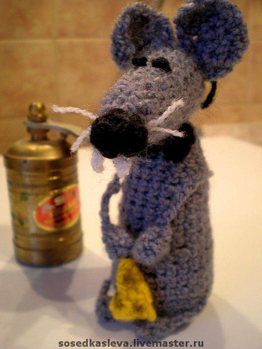 """Игрушки животные, ручной работы. Ярмарка Мастеров - ручная работа. Купить Крыс """"Интеллигент""""- авторская работа. Handmade. Вязаная игрушка"""