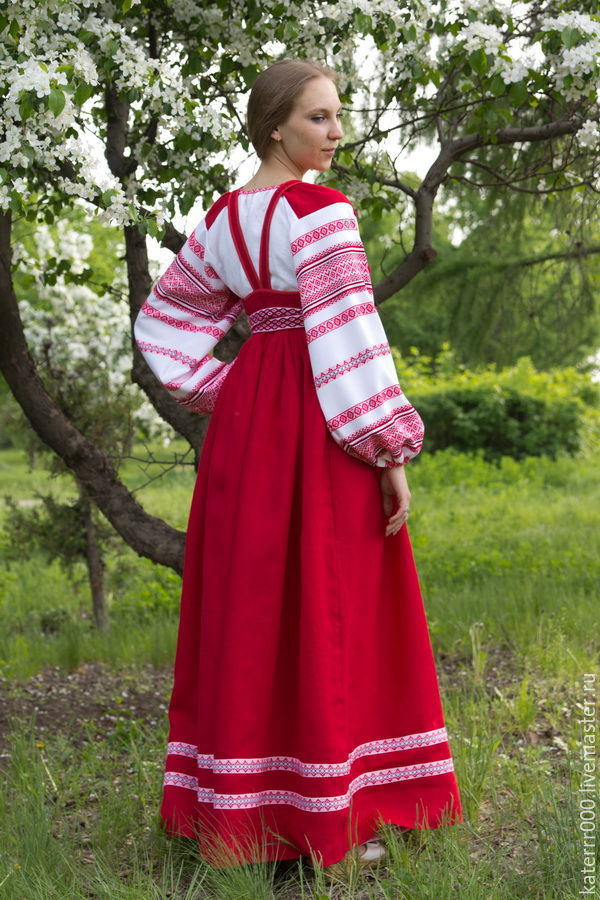 Купить русский народный костюм женский с доставкой