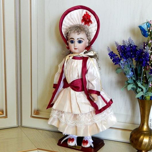 Винтажные куклы и игрушки. Ярмарка Мастеров - ручная работа. Купить Реплика антикварной куколки  JEMEAU TT BEBE 39 см. Handmade.