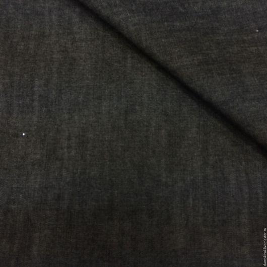 Шитье ручной работы. Ярмарка Мастеров - ручная работа. Купить Ткань джинсовая. Handmade. Черный, джинс, ткань для творчества