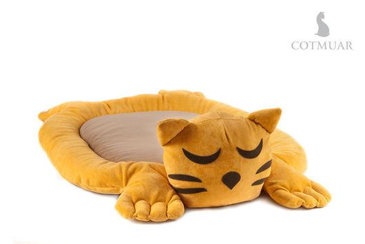 Аксессуары для кошек, ручной работы. Ярмарка Мастеров - ручная работа. Купить COTMUAR Фанни Кэт Жон. Handmade. Желтый, кошка