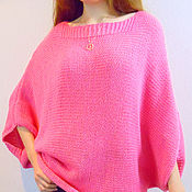 Одежда ручной работы. Ярмарка Мастеров - ручная работа Пончо вязаное женское, вязаная одежда женская , свитер вязаный женский. Handmade.