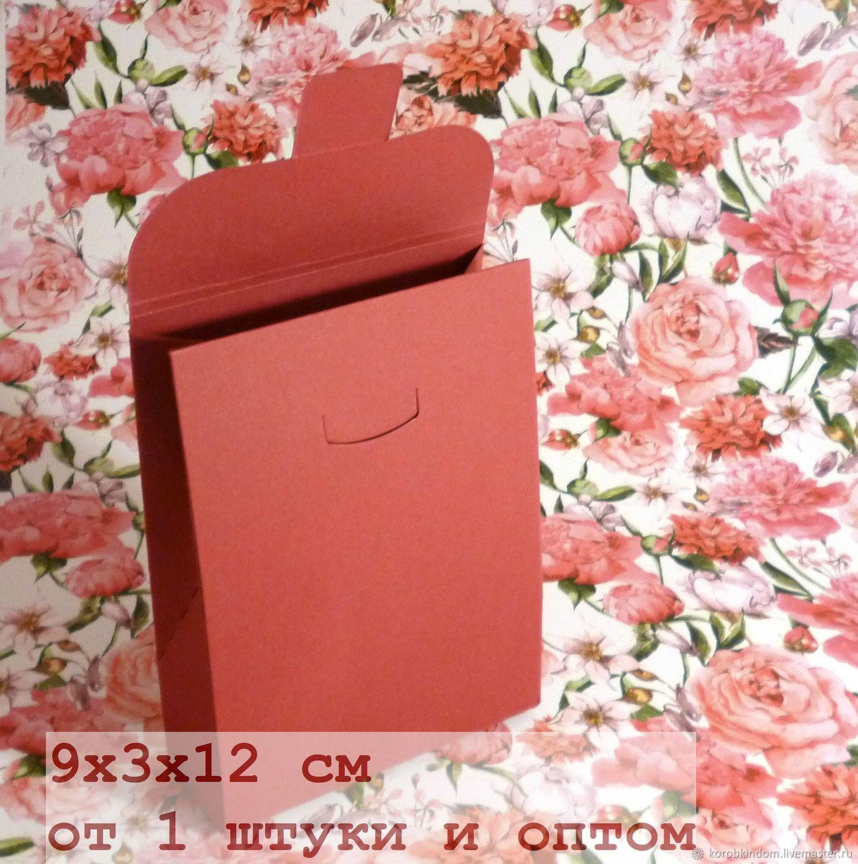 9х3х12 - коробочка-пакетик темно-красная, Материалы для творчества, Санкт-Петербург, Фото №1